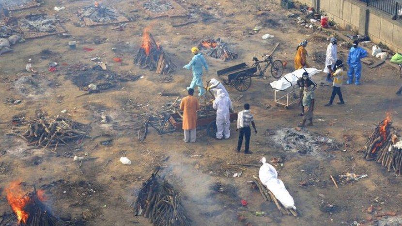 Covid-19 di India Mengganas, Krematorium Kehabisan Tempat Bakar Jenazah