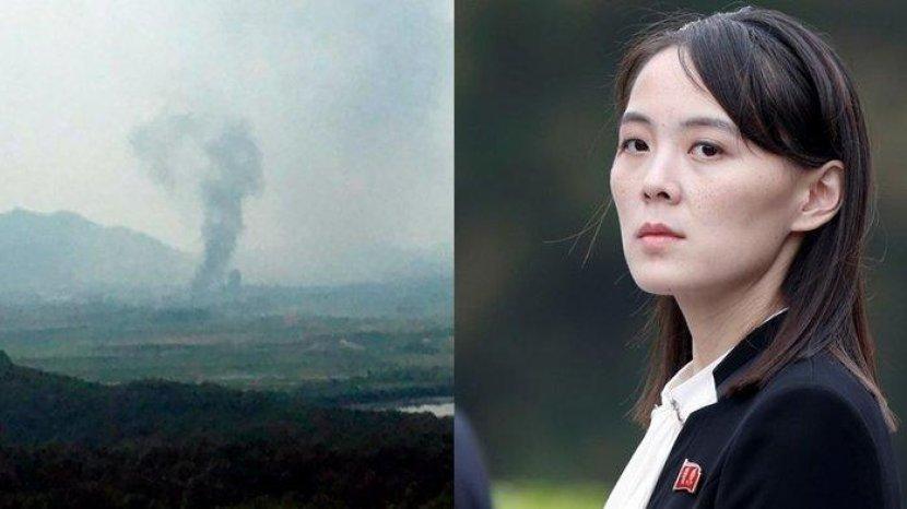 Ancaman Adik Perempuan Kim Jong Un Tak Main-Main, Kantor Penghubung dengan Korea Selatan Diledakan