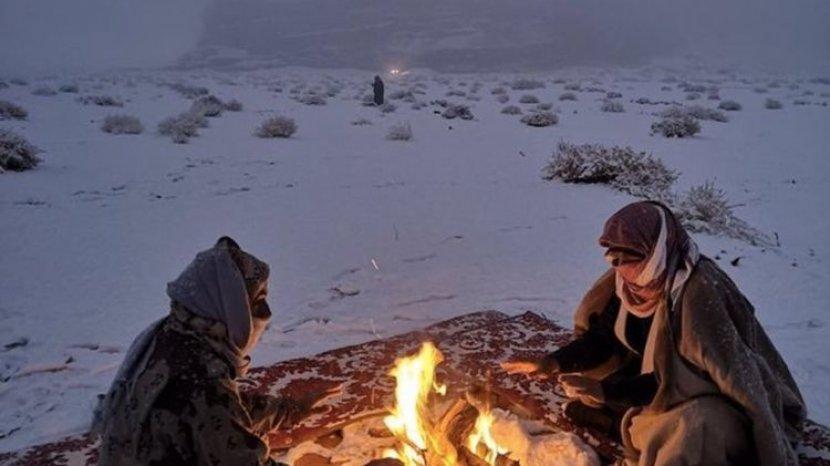 Salju di Arab Saudi Bukti Nyata Perubahan Iklim