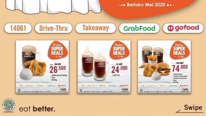 Nikmati Paket Online Super Deals dari A&W Restoran