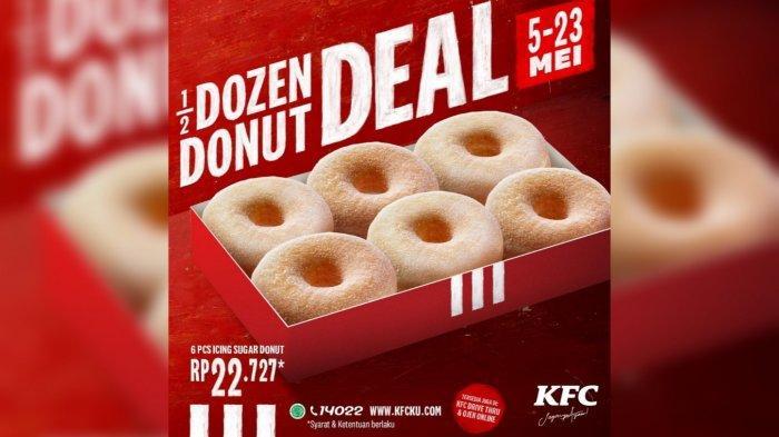 Promo KFC 6 Icing Sugar Donut Deal Cuma Rp 22 Ribuan