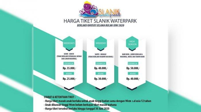 Harga Baru Tiket Slanik Waterpark Berlaku Juni 2020
