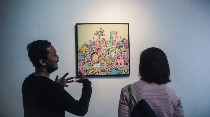 Lowpop Pamerkan 15 Lukisannya di Redbase Yogyakarta dengan Tajuk 'Adaptasi, The Art of Survival'