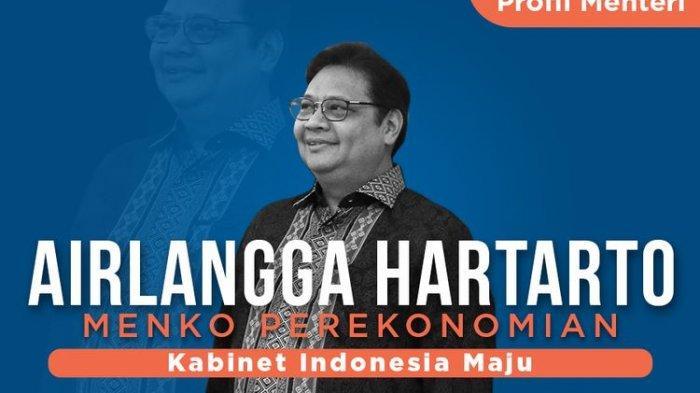 Profil Airlangga Hartarto Menteri Koordinator Bidang Perekonomian Kabinet Indonesia Maju