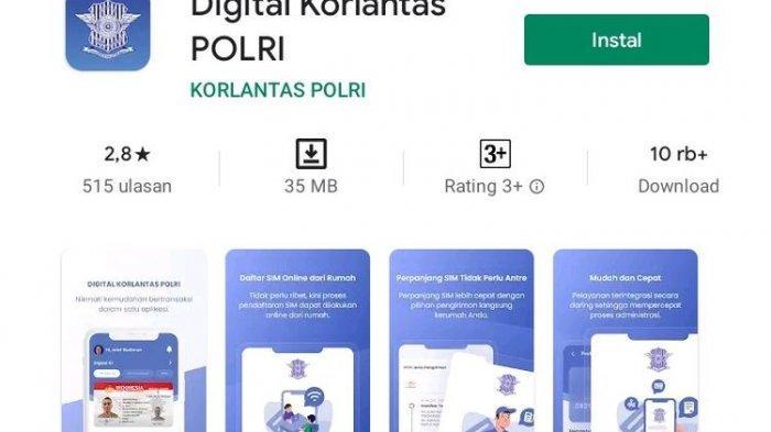 Digital Korlantas Polri, Aplikasi Mutakhir Urus Perpanjangan SIM Online