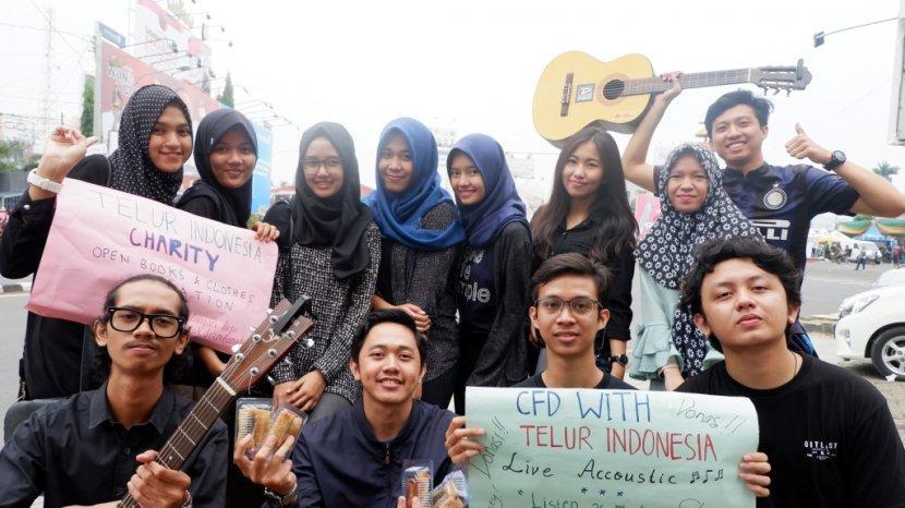 Rekatkan Jiwa Kemanusiaan, Komunitas Sosial Pendidikan Telur Indonesia Gelar Bakti Sosial