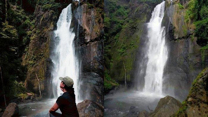 Inilah Cagar Budaya Watu Lutau dan Air Terjun di Desa Tondei Minahasa Selatan