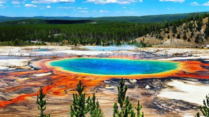 Pesona Grand Prismatic Spring, Mata Air di Taman Nasional Yellowstone, Tawarkan Keindahan Rupa Warna