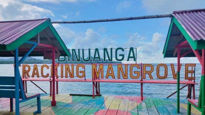Hutan Mangrove Bolmut Sajikan Keindahan Laut dan Spot Selfie Bersama Keluarga