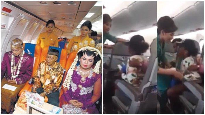 Beragam Keunikan di Pesawat, Mulai dari Menikah Massal Hingga Ada yang Minta Turun