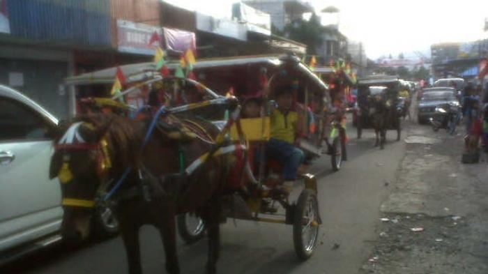 Pasiar Bendi di Minahasa, Tradisi Turun Temurun Saat Natal