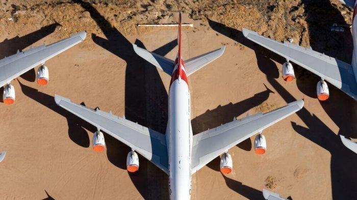 Pesawat yang Sudah Tak Layak Pakai Biasanya Disimpan di Gurun Pasir, Ini Alasannya