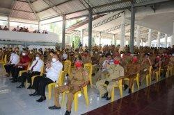Rapat Perdana Pejabat Minahasa Selatan, ASN Dibagi Berdasarkan Warna Masker