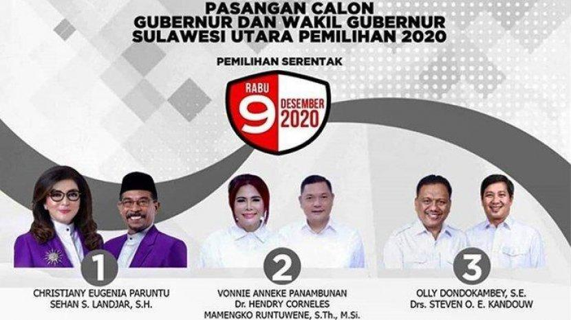UPDATE Pilgub Sulut: Pasangan CEP-SSL Sementara Unggul di 4 Kabupaten, ODSK di 11 Daerah