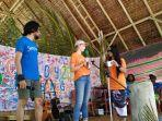Mariam, Relawan Jerman Bantu Sadarkan Pentingnya Melestarikan Alam ke Anak-Anak P. Bangka