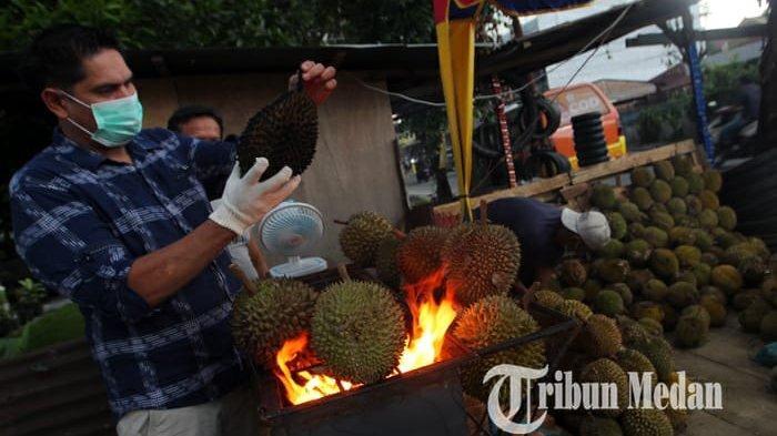 Durian Bakar Pertama di Kota Medan, Jadi Kuliner Alternatif yang Ramah untuk Perut