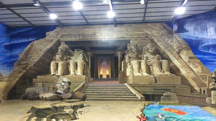Lukisan 3D kerajaan di era Mesir Kuno