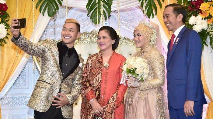 Presiden Jokowi bersama Ibu Negara hadir dalam pernikahan Hanifan Yudani Kusumah dan Pipiet.