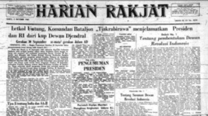 Surat kabar Harian Rakyat.