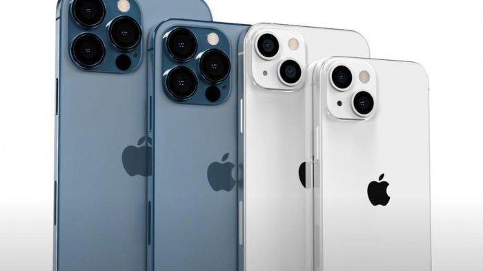 Ilustrasi dummy empat model iPhone 13  2