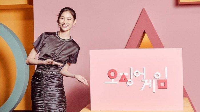 Jung Ho Yeon saat promosi drama Squid Game