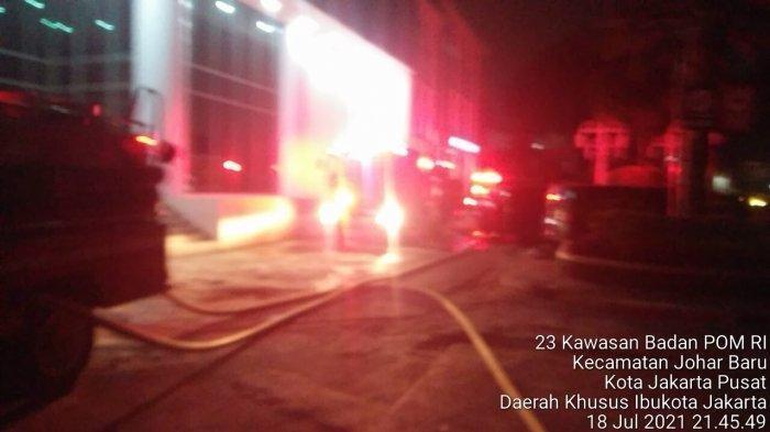 Kebakaran di Kantor BPOM