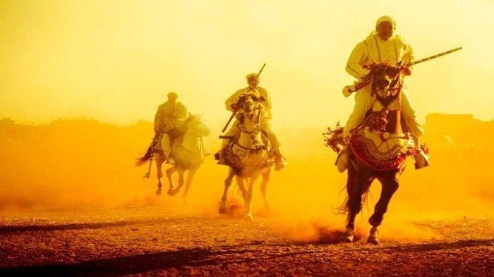 Ilustrasi pasukan muslim di medan pertempuran