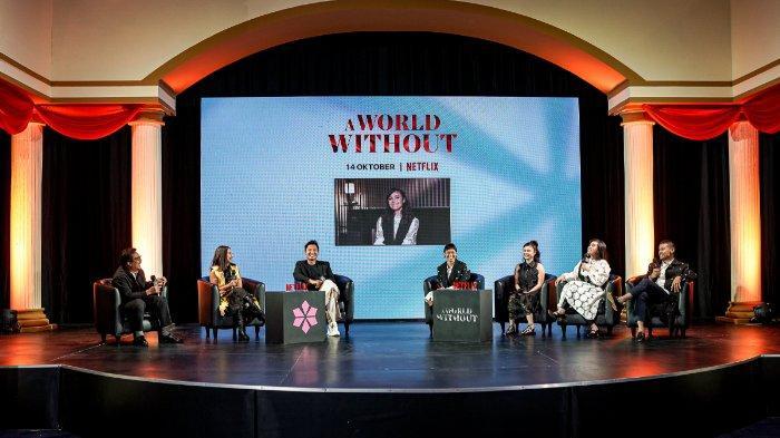 Konferensi pers virtual film A World Without, Selasa (12/10/2021) (Netflix)