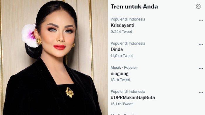 Krisdayanti trending di Twitter setelah blak-blakan ungkap besaran gaji dan tunjangan anggota pada Jumat (17/9/2021)