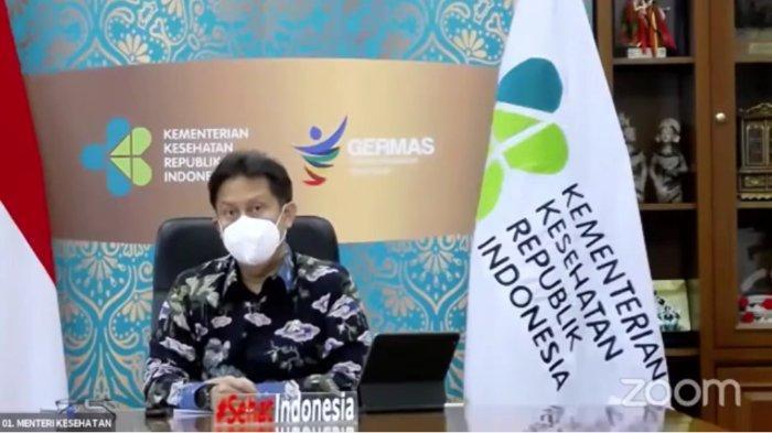 Menkes Budi Gunadi Sadikin saat Media Gathering Perkembangan Perekonomian Terkini dan Kebijakan PC-PEN, Jumat (23/4/2021).