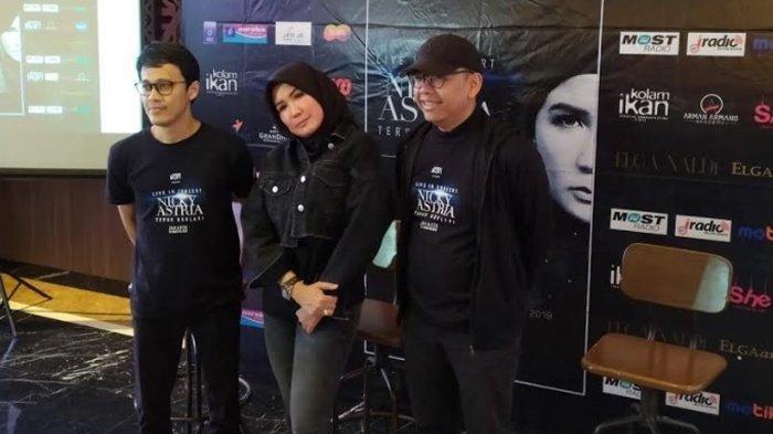 Nicky Astria dan Tohpati saat press conference konser tunggal Nicky Astria