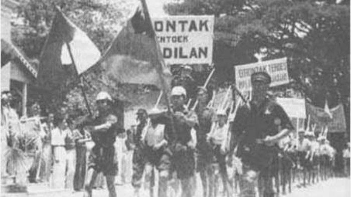 Ilustrasi Pertempuran Medan Area.