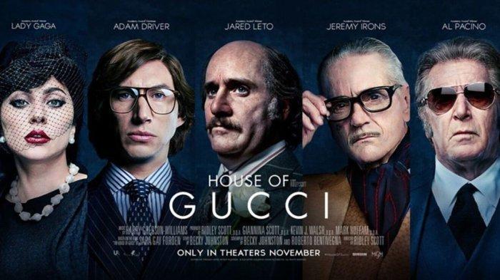 Poster film 'House of Gucci' yang akan tayang pada 24 November 2021.