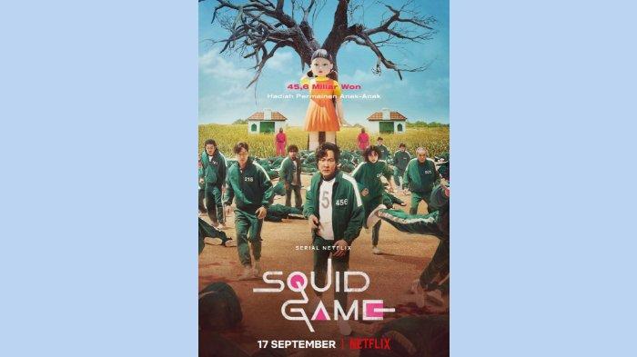 Poster resmi drama Korea Squid Game (Netflix)