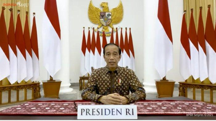 Presiden Jokowi memberikan pernyataan tentang perkembangan terkini PPKM Darurat, Selasa (20/7/2021)