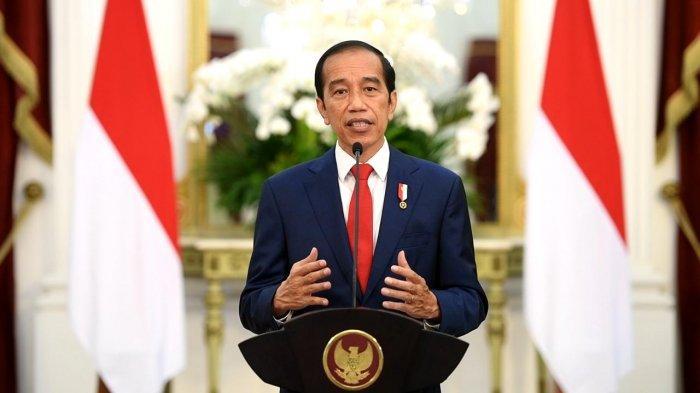 Presiden Jokowi saat berpidato secara virtual dalam KTT Kesehatan Global, Jumat (21/05/2021) malam.