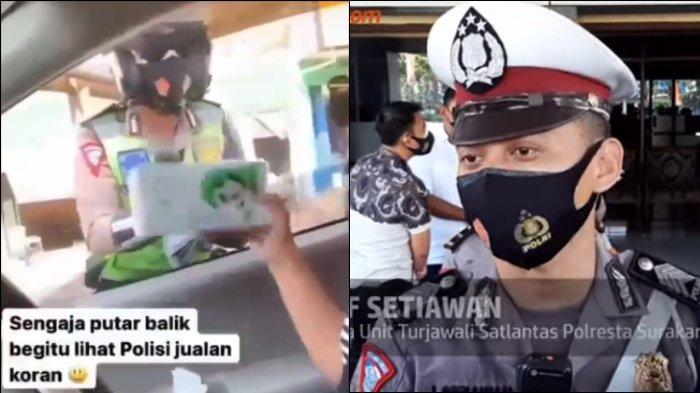 Viral polisi bernama Bripka Arief Setiawan bantu pedagang di lampu merah, akhirnya jualan koran dan tisu.
