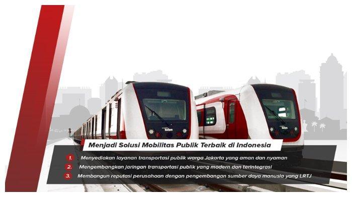 Visi dan misi LRT Jakarta.