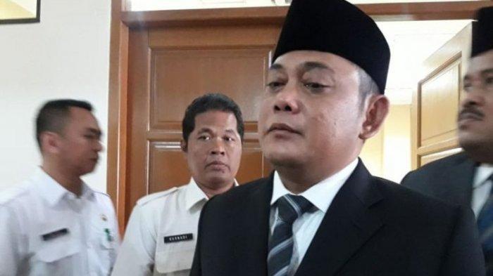 Wakil Bupati Bekasi Eka Supria Atmaja di Kantor DPRD Kabupaten Bekasi, Rabu (17/10/2018).