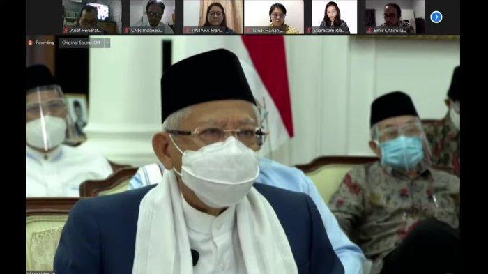 Wakil Presiden RI, Ma'ruf Amin, Minggu (18/7/2021).