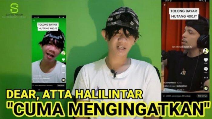 Youtuber Savas Fresh dilaporkan ke polisi oleh Atta Halilintar atas kasus dugaan fitnah terhadap keluarganya, Jumat (17/9/2021).