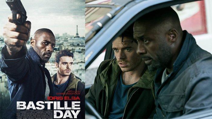 Idris Elba dan Richard Madden dalam Bastille Day (2016)