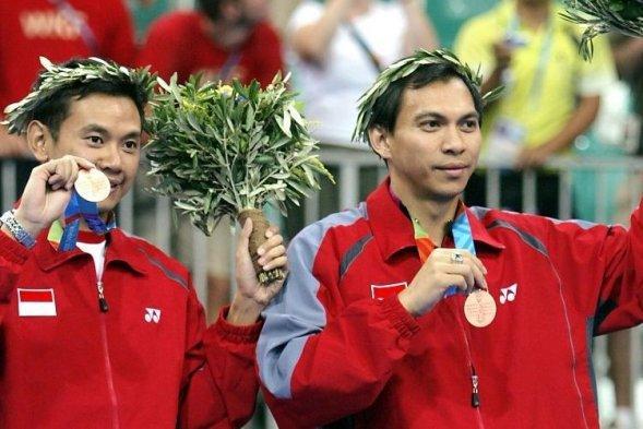 Eng Hian dan Limpele pada Olimpiade Athena 2004