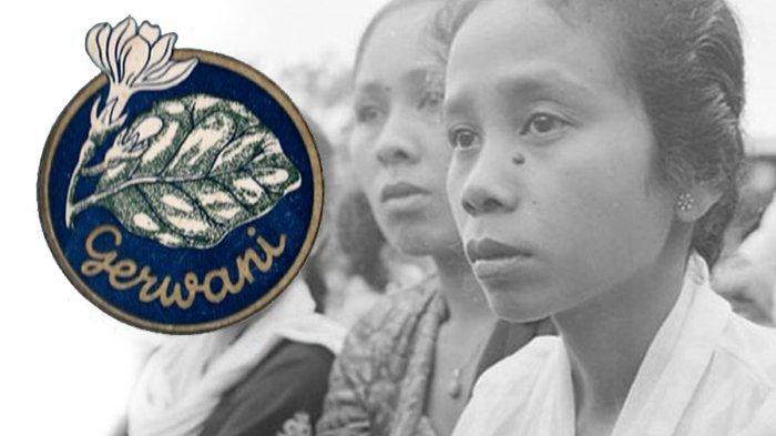 Ilustrasi dan logo Gerakan Wanita Indonesia (Gerwani)