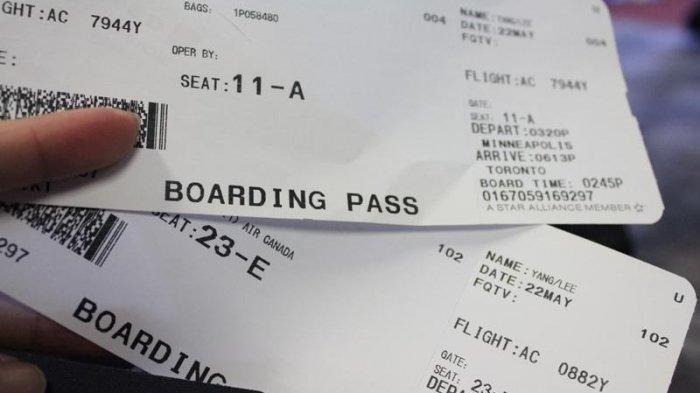 Ilustrasi tiket pesawat