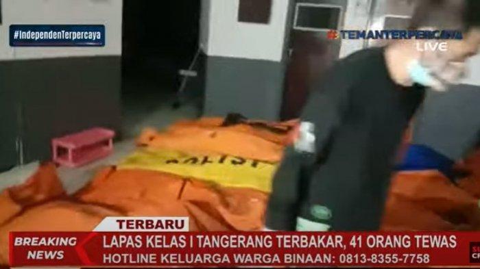 Sebanyak 41 orang meninggal dunia akibat kebakaran yang melanda Lembaga Permasyarakatan (Lapas) Kelas I Tangerang, Kota Tangerang, Banten, Rabu (8/9/2021) dini hari.