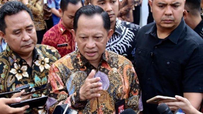 Mendagri Jenderal (Purn) Pol Tito Karnavian ditemui di Kantor Kemendagri, Jakarta Pusat, Kamis (24/10/2019).