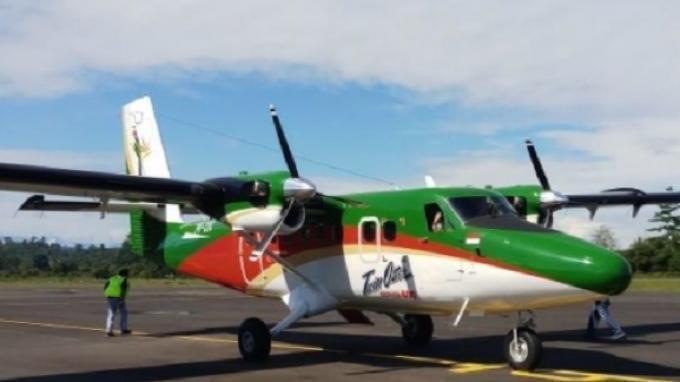 Sebuah pesawat seri Twin Otter 300 PK-OTW milik maskapai penerbangan Rimbun Air Cargo dinyatakan hilang kontak di Distrik Sugapa, Kabupaten Intan Jaya, Rabu (15/9/2021).