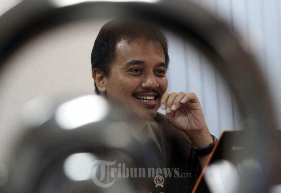 Menteri Pemuda dan Olah Raga (Mempora) Roy Suryo, kunjungi kantor Tribunnews Jakarta dalam acara Dialog dan Livechate, Kamis (20/3/2014).