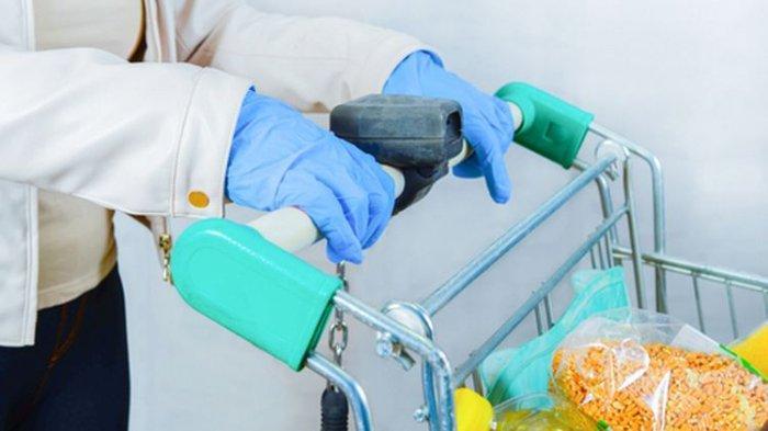 Ilustrasi sarung tangan medis
